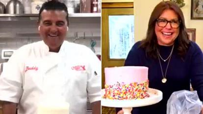 """I've got, I'd say, about 75% of my strength back, so, you know, it's coming along, but I'm still in physical therapy, doing really well,"" Buddy Valastro tells Rachael Ray."