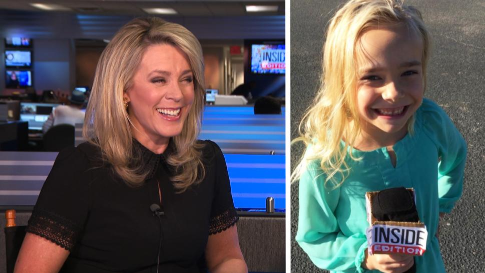 Deborah Norville met a little girl who dressed as her for Halloween