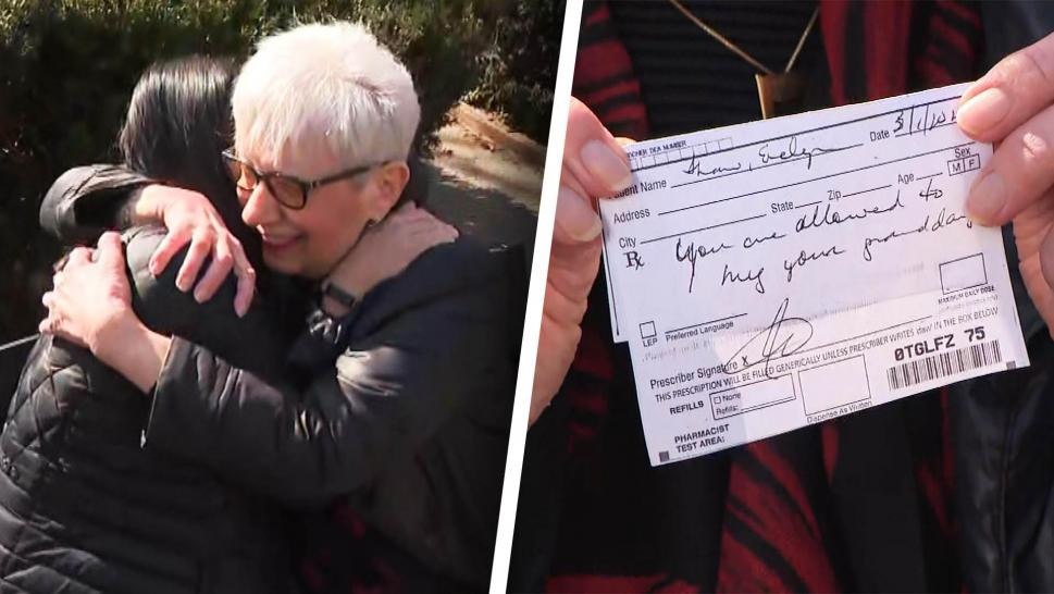 Vaccinated Grandma Gets Prescription for Granddaughter's Hug