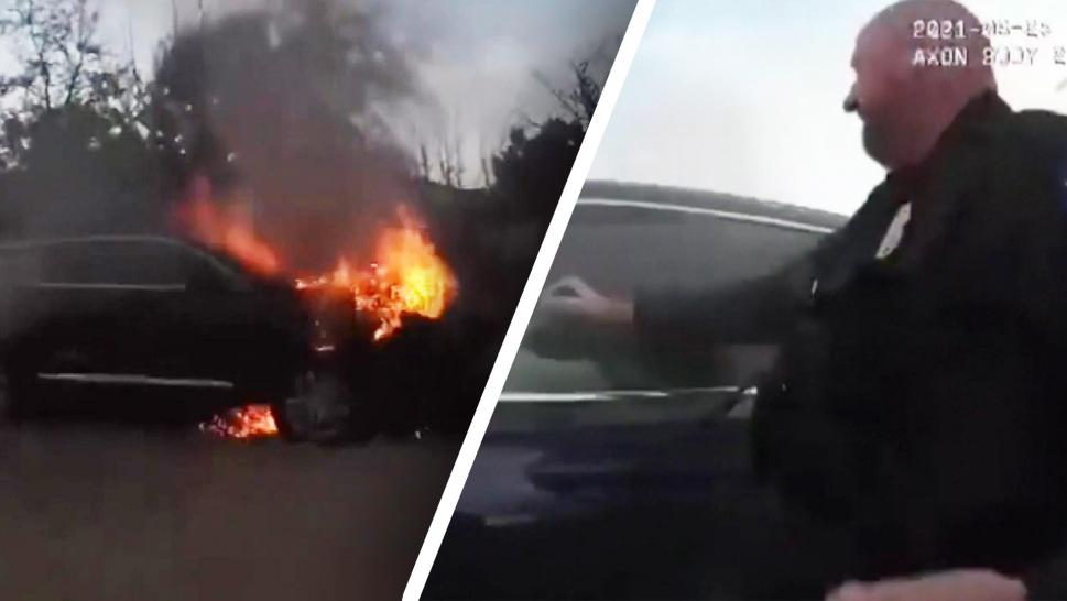 Arizona Man Rescued by Police After Being Trapped in Burning Car