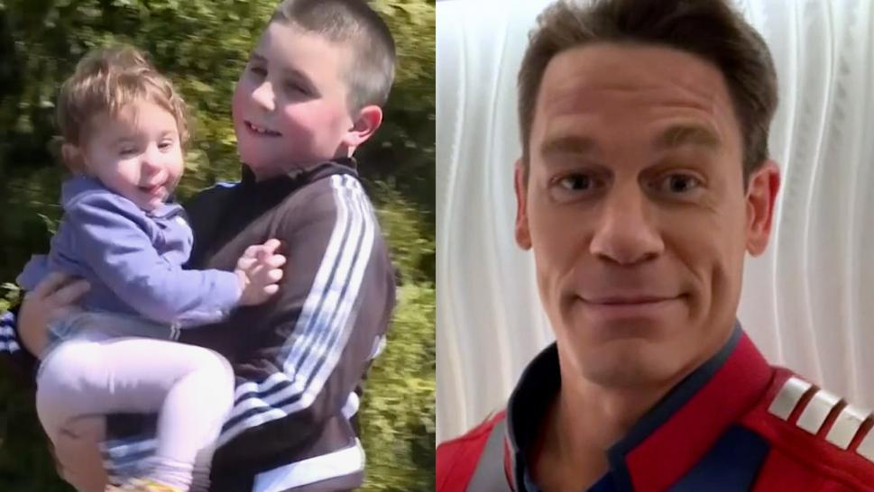 Boy who saved his sister after watching John Cena demonstrate CPR