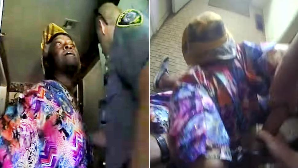 Body cam footage showed the moment authorities put 74-year-old Ruby Jones in handcuffs while she screamed in pain.